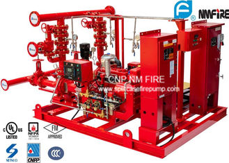 China UL / NFPA20 Skid Mounted Fire Pump Package 300GPM Ductile Cast Iron Materials supplier