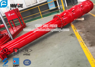 China Big Flow 4 Stage Vertical Shaft Turbine Fire Pump , 4500 Usgpm Deep Well Pump supplier