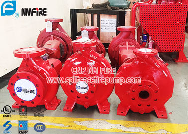 China Single Stage Horizontal Centrifugal End Suction Fire Pump Set With Diesel Engine supplier