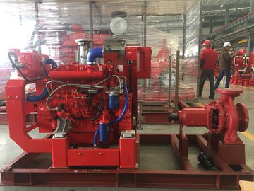 Diesel Engine Single Stage End Suction Centrifugal Pump For Fire Fighting 400usgpm