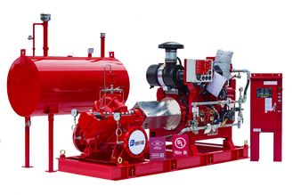 China High Speed Split Case Fire Pump / Cast Iron Diesel Powered Fire Pump supplier