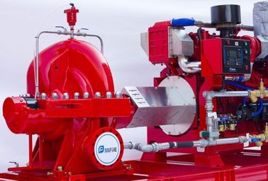 China High Capacity Diesel Fire Fighting Pumps / Stable Red Fire Jockey Pump supplier