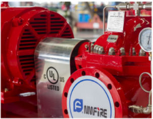China NM FIRE Ul Fm Approved Fire Pumps / 300GPM @ 125M Head Electric Fire Fighting Pump supplier