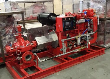 China Split Case Electric Motor Driven Fire Pump With Techtop Motor 2000 GPM 171 PSI supplier