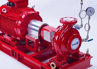 China 750 GPM End Suction Centrifugal Pump Set / 142 PSI Eaton Controller Fire Pump Set supplier