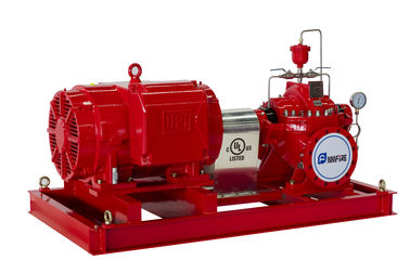 China UL Listed Split Case Centrifugal Pump Motor Driven Fire Pump For Pipelines Bureaus supplier