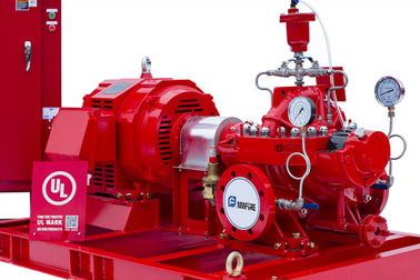 China NFPA20 Standard Diesel Engine Driven Fire Pump 415 Feet With Air / Water Cooling System supplier