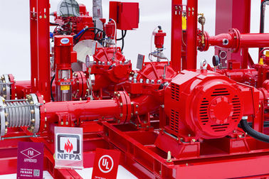 China 450GPM @ 125PSI Skid Mounted Fire Pump With Centrifugal End Suction Fire Pump Sets supplier