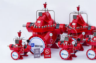 China Red Color 2000gpm Diesel Engine Driven Fire Pump Set Used In Building supplier