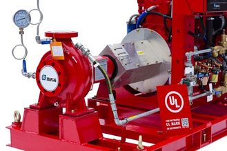 China High Head Diesel Fire Fighting Water Pump / Oil Fields Fire Fighting Pump System supplier