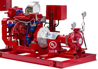 500 GPM End Suction Fire Pump , High Strength Diesel Fire Water Pump 116 PSI