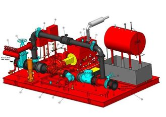China UL / FM Horizontal Split Case Pump Assembly Skid Mounted Fire Pump Package supplier