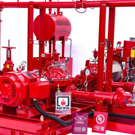High Performance Centrifugal Fire Pump System 115PSI With 24.6kw MAX SHAFT Power