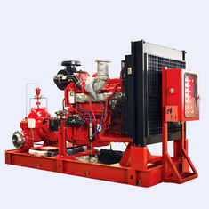 China 150PSI Diesel Engine Driven Fire Pump , Split Case Fire Pump Ductile Cast Iron Materials supplier