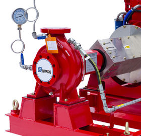 China NFPA20 Standard End Suction Fire Pump 250GPM@100PSI Ductile Cast Iron Casing supplier