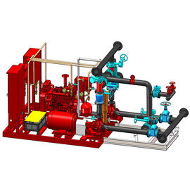 China UL FM Approved Skid Mounted Fire Pump Package Ductile Cast Iron Materials supplier