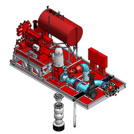 China Red UL Listed Diesel Fire Pump Package With Vertical Turbine Fire Pump Sets supplier