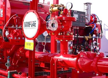 China Red Fire Pump Diesel Engine 86KW Water Cold Cooling For Firefighting supplier