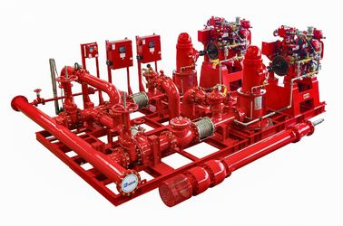 China UL FM NFPA20 Vertical Turbine Fire Pump Skid Mounted Fire Pump Packaged Sea Water supplier