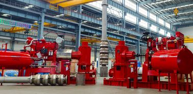 China UL FM NFPA20 Vertical Turbine Fire Pump Water Sea Water Motor/Deisel engine  Tornatech/Eaton controll panel supplier