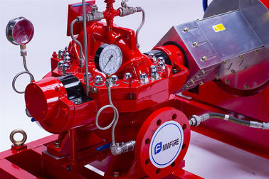 China Single Stage End Suction Horizontal Fire Pump Set With Diesel Engine , UL / FM Listed supplier