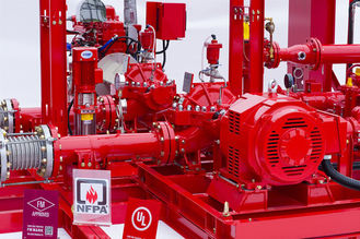 China Horizontal Centrifugal Split Case Fire Pump Set 1000 Gpm With Engine , Low Noise supplier