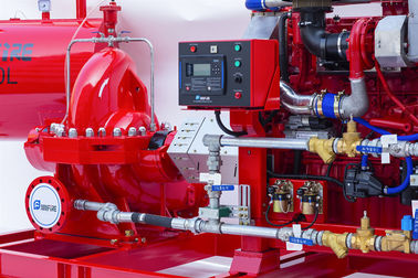 End Suction Diesel Engine Driven Fire Pump Set Horizontal Firefighting Use