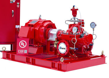 China Single Stage Double Suction Centrifugal Fire Pump , Horizontal Split Pump 500GPM@120 PSI supplier