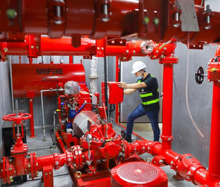 Centrifugal Skid Mounted Fire Pump Single Stage For Pipelines Bureaus