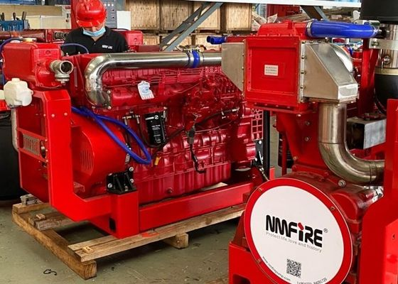 Diesel Fire Pump Engine Water Cooling With 1900-3000 rpm Speed at 305 HP UL / FM