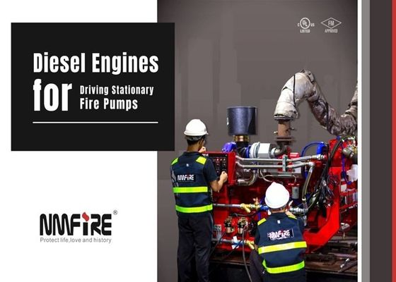 NM Fire UL listed Fire Pump Diesel Engine NM4 - 105  Driving Stationary Fire Pump