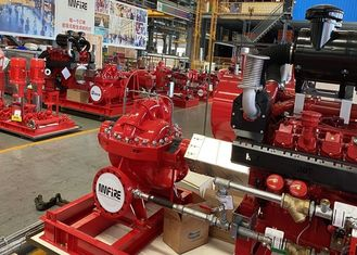 High Performance Fire Water Pump Diesel Engine 180PSI For Hospitals / Schools