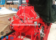 NFPA 20 Standard Fire Fighting Water Pump , Electric Motor Driver Horizontal Split Case Fire Pump
