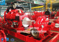 Red Color Diesel Engine Pump For Fire Fighting / Horizontal Split Case Fire Pump