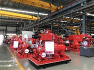 China Red Fire Fighting Pump Set  Diesel engine Fire Fighting Water Pump 500 gpm 130 psi factory
