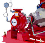NFPA20 Standard End Suction Fire Pump 250GPM@100PSI Ductile Cast Iron Casing