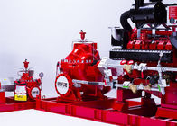 China 150PSI Diesel Engine Driven Fire Pump , Split Case Fire Pump Ductile Cast Iron Materials company