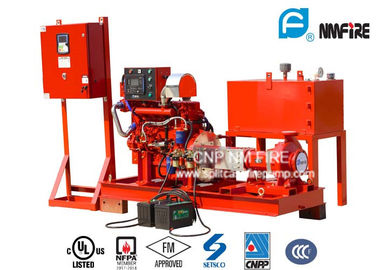 China UL/FM Listed Centrifugal End Suction Fire Pump With Diesel Engine Drive 300GPM @ 145PSI factory