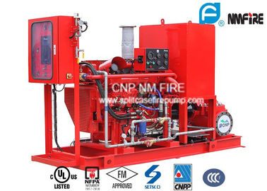China Multistage 1000GPM @ 130PSI Diesel Engine Drive Fire Pump With Horizontal Split case Fire Pump NFPA20/UL/FM Listed factory