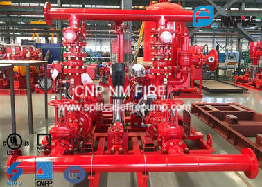 China High Prcision Fire Water Pump Package , Fire Pump Skid Package 500GPM@105PSI factory