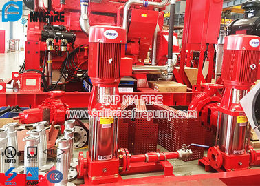 China 50Hz Multi Stage Centrifugal Fire Pump Set , Electric Jockey Pump With Control Panel distributor