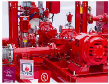 China NM FIRE NFPA20 Centrifugal Fire Pump Package System With Simplifies Piping Design distributor