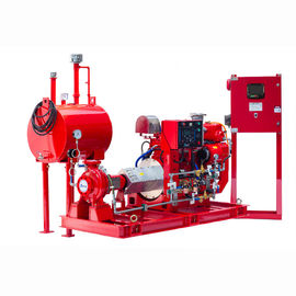 China UL FM Approved Diesel Engine Driven Fire Pump , Diesel Fire Fighting Water Pump 200GPM distributor