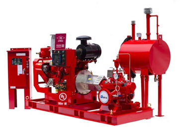 China Centrifugal Diesel Engine Driven Fire Pump 125PSI For Office Buildings distributor