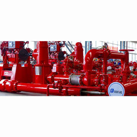 China 400GPM NFPA20 Fire Fighting Pump System 277 Feet For Residential / Industrial distributor