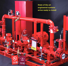 China 4000GPM Skid Mounted Fire Pump Ductile Cast Iron Casing With 338KW Motor Driver factory