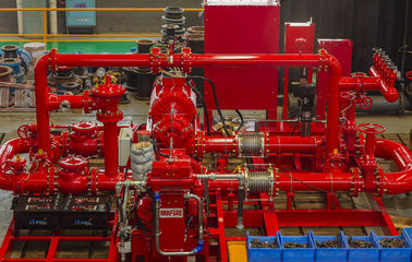China UL FM Approved Skid Mounted Fire Pump 3500GPM@140PSI For Oil Repositories factory