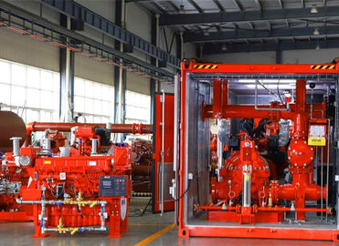 China 1000GPM@185PSI Skid Mounted Fire Pump NFPA20 Standard For Oil Terminals factory