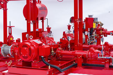 China NFPA20 Accordance Fire Pump Skid Package With Split Case Fire Pump Sets 150PSI factory