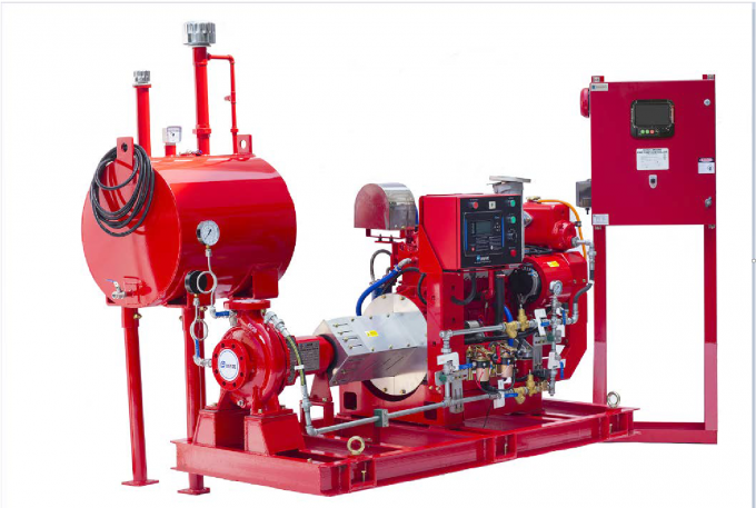 High Speed End Suction Fire Pump Set With Eaton Controller Jockey Pump -E01